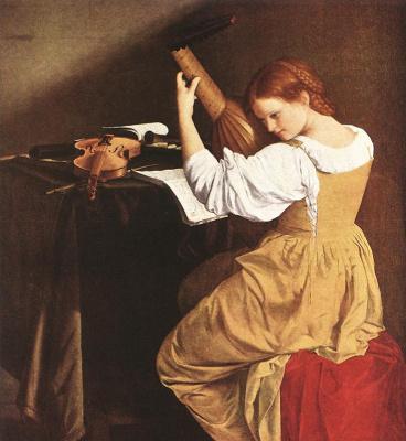 Orazio Gentileski. Lute player