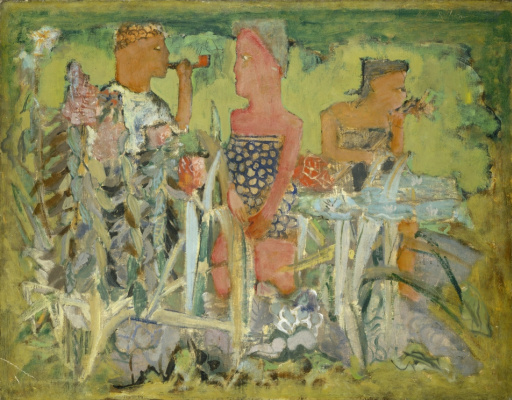 Rothko Mark. Untitled (Man and two women outdoors)