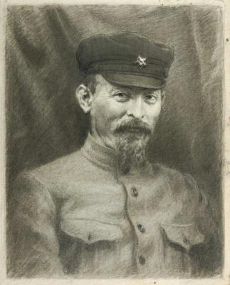 Александр Никитич Парамонов. Портрет Ф.Э. Дзержинского. 1941  перо