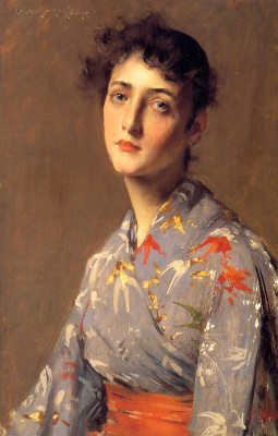 Уильям Меррит Чейз. Девушка в японском кимоно