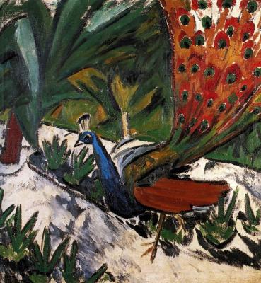 Mikhail Larionov. Peacock