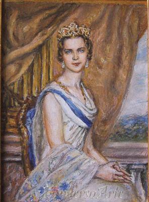 Elena Sergheevna Akinina. Portrait of Maria-Jose di Savoia