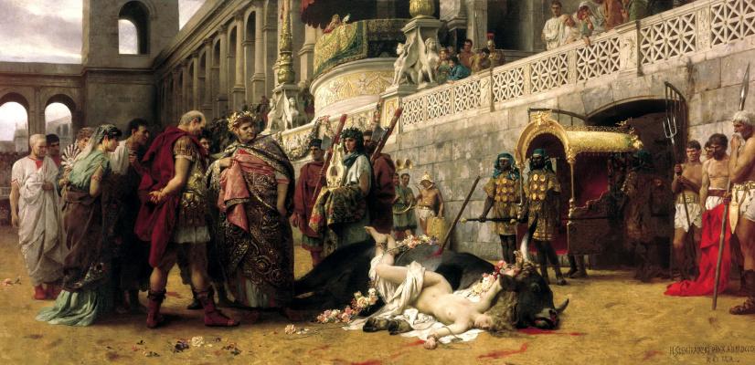 Генрих Ипполитович Семирадский. Christian Dirtee in the circus of Nero