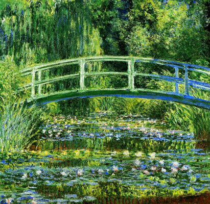 Claude Monet. The Japanese bridge (the water Lilly Pond)
