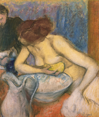 Edgar Degas. The woman behind the toilet
