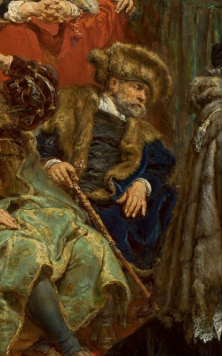 Ян Матейко. Подвешивание колоколов Зигмунта на башню собора в Кракове в 1521 году. Фрагмент II