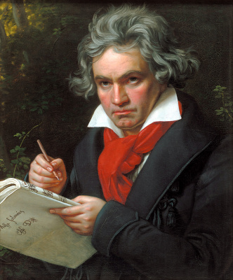 Josef Karl Styler. Portrait of Ludwig van Beethoven