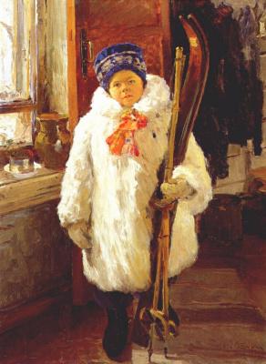 Александр Филиппович Бурак. Молодой лыжник