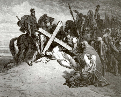 Paul Gustave Dore. Bible Illustration: Calvary