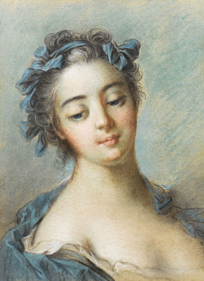 Francois Boucher. Portrait of the Marquise Pompadour