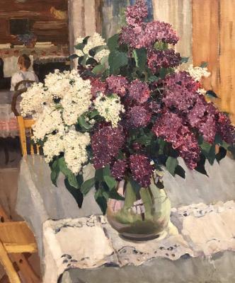 Alexander Mikhailovich Gerasimov. A bouquet of lilacs.