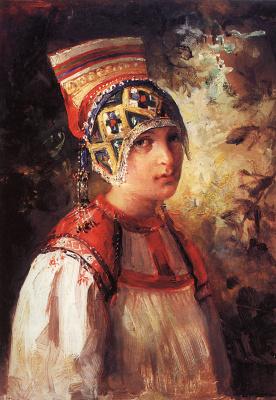 Vladimir Egorovich Makovsky. Peasant woman