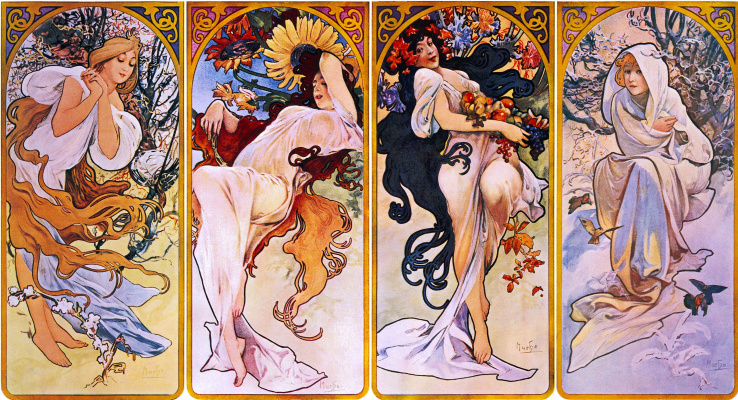 Alphonse Mucha. Seasons
