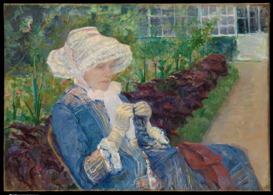 Mary Cassatt. Lydia crocheting in the garden at Marly