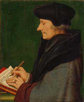 Hans Holbein The Younger. Portrait of Erasmus of Rotterdam