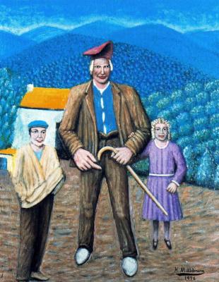 Хигинио Маллебрера. Мужчина с детьми