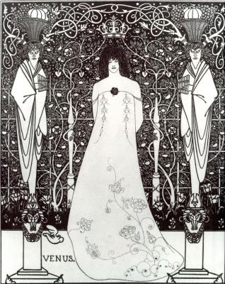 Aubrey Beardsley. Venus between the gods