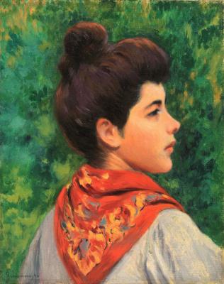 Федерико Дзандоменеги. Девушка в красном платке
