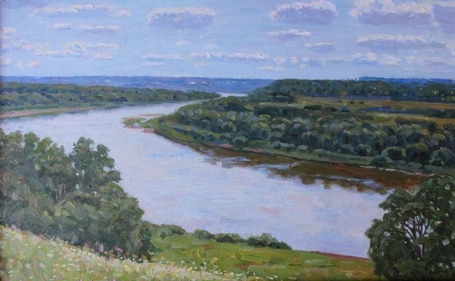 Eugene Alexandrovich Kazantsev. On the Oka. Behovo.