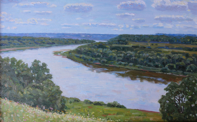 Eugene Alexandrovich Kazantsev. On The Oka River. Behave.
