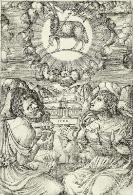 Жан Дюве. Святые Иоанн Креститель и Иоанн Евангелист, поклоняющиеся агнцу