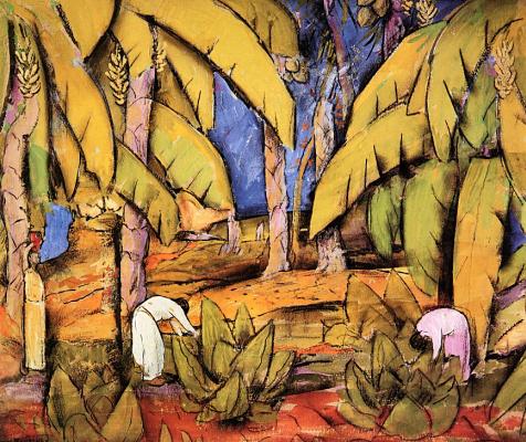 Альфредо Рамос Мартинес. Банановые плантации