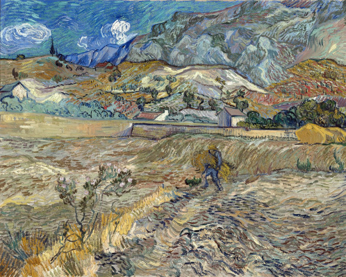 Vincent van Gogh. Wheat field with peasant
