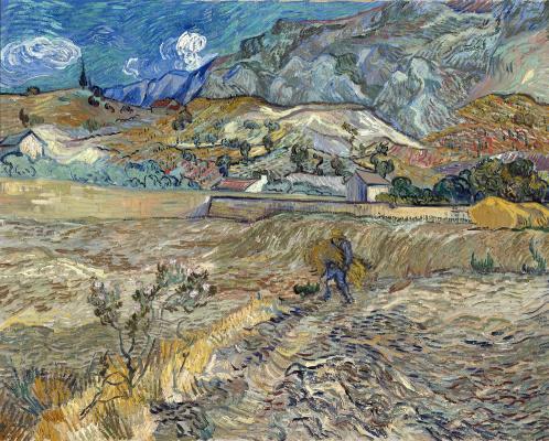 Винсент Ван Гог. Пшеничное поле с крестьянином