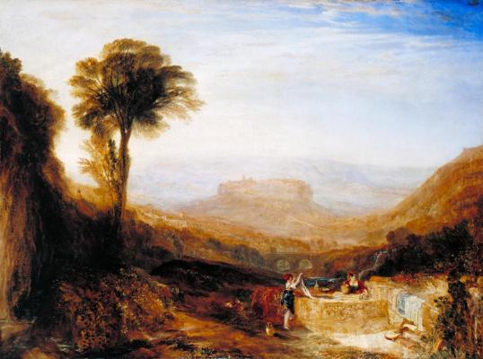 Joseph Mallord William Turner. View of Orvieto, in Rome