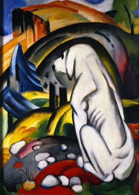 Franz Marc. White dog