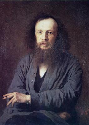 Portrait of a chemist Dmitry Ivanovich Mendeleyev