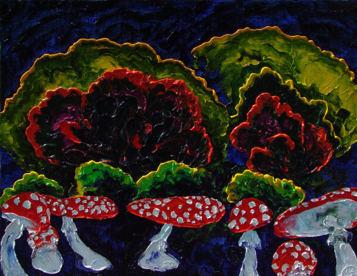 Alexander Ocher Kandinsky-DAE. Toadstools. (Triptych - Bar forest, middle panel)