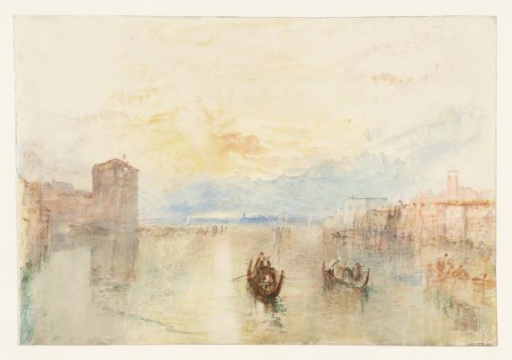Джозеф Мэллорд Уильям Тёрнер. Венеция. Канал Джудекка, вид на Фусину на закате