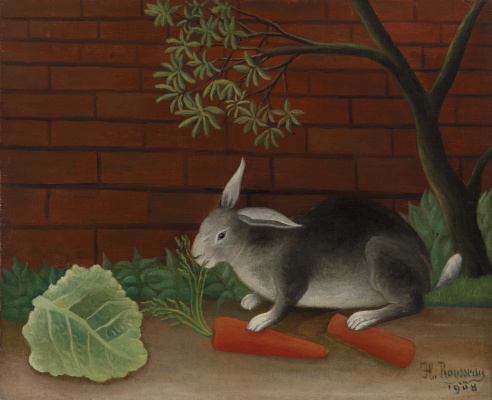 Henri Rousseau. Rabbit food