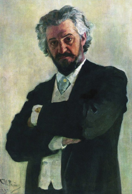 Ilya Efimovich Repin. Portrait of the cellist A. V. Verzhbilovich