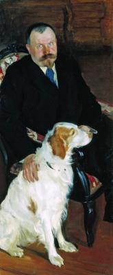 Борис Михайлович Кустодиев. Портрет доктора С.Я. Любимова с собакой