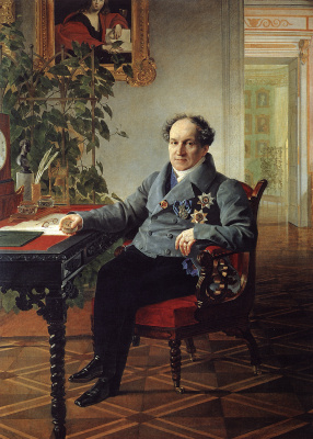 Karl Pavlovich Bryullov. Portrait of member of State Council Prince A. N. Golitsyn