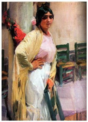 Joaquin Sorolla (Soroya). Beautiful Maria