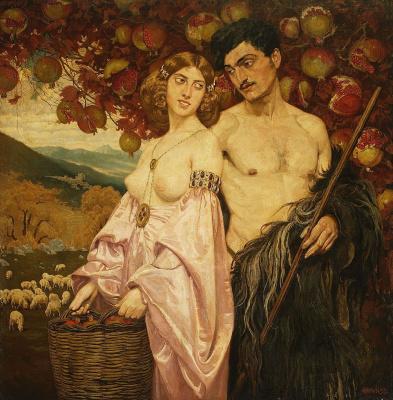 Edward Perch. Self-portrait with wife