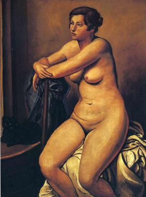 Andre Derain. The Nude female near the cat