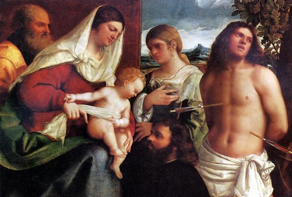 Себастьяно дель Пьомбо. Святое собеседование
