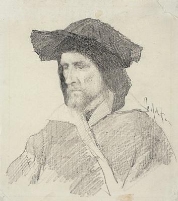Исаак Ильич Левитан. Натурщик в венецианском костюме