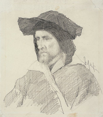 Isaac Levitan. Sitter in Venetian costume