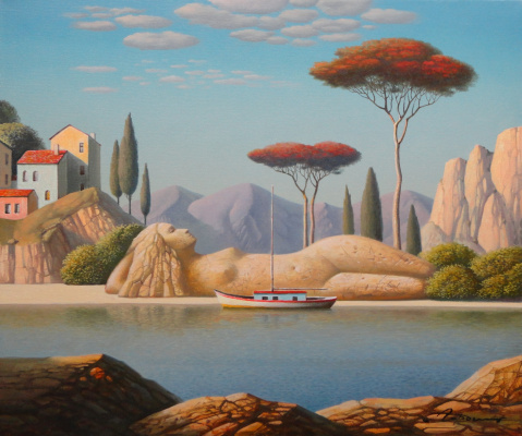 Evgeni (Eugene) Yakovlevich Gordiets (Gordian). Dream by The Red Tree