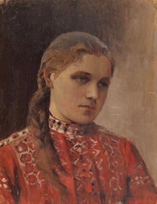 Mikhail Vasilyevich Nesterov. Portrait Of Maria Vysotskaya