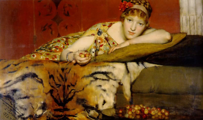 Alma-Tadema Lawrence. Cherries