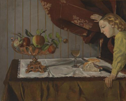 Balthus (Balthasar Klossovsky de Rola). Still life with a female figure