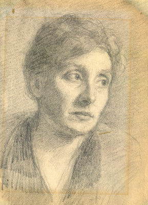 Евгений Иосифович Буковецкий. Portrait of the artist's wife