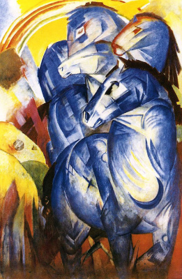 Franz Marc. The tower of blue horses