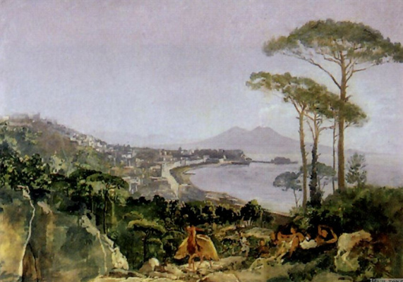 Alexander Andreevich Ivanov. Naples from Posillipo road